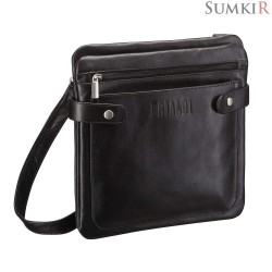 Brialdi Nevada (Невада) black Кожаная сумка через плечо