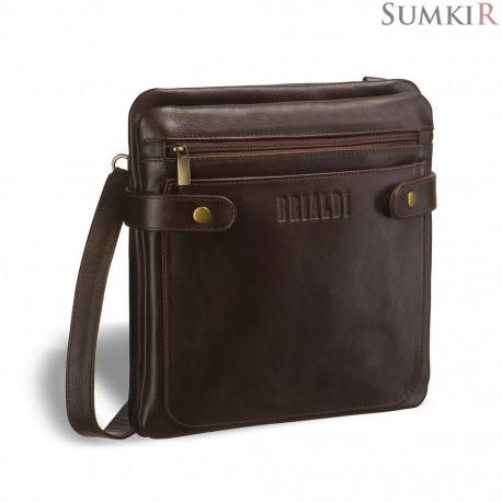 Brialdi Nevada (Невада) brown Кожаная сумка через плечо
