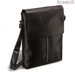 Brialdi Positano (Позитано) black Кожаная сумка через плечо