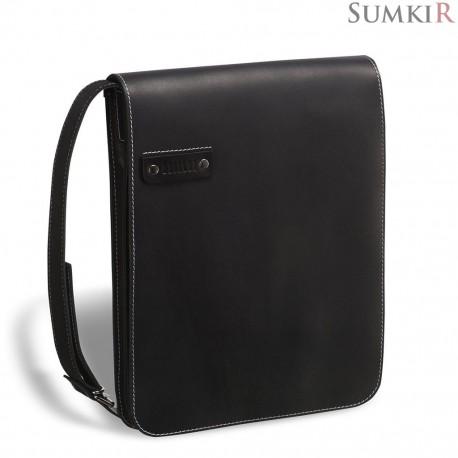 Brialdi Kansas (Канзас) black Кожаная сумка через плечо