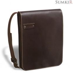 Brialdi Kansas (Канзас) brown Кожаная сумка через плечо