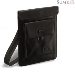 Brialdi Nettuno (Неттуно) black Кожаная сумка через плечо