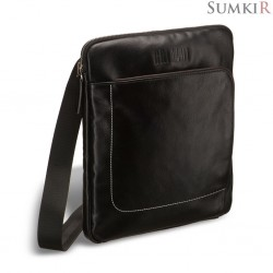 Brialdi Carano (Карано) black Кожаная сумка через плечо