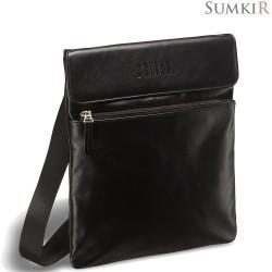 Brialdi Lecco (Лекко) black Кожаная сумка через плечо