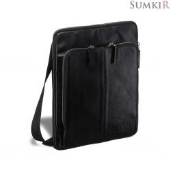 Brialdi Capri (Капри) black Кожаная сумка через плечо