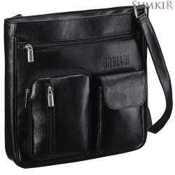 Brialdi Chester (Честер) black Кожаная сумка через плечо