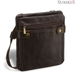 Brialdi Newport (Ньюпорт) brown Кожаная сумка через плечо