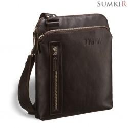 Brialdi Providence (Провиденс) brown Кожаная сумка через плечо