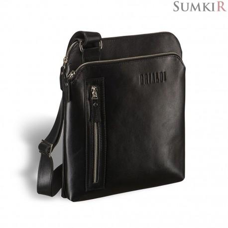 Brialdi Providence (Провиденс) black Кожаная сумка через плечо