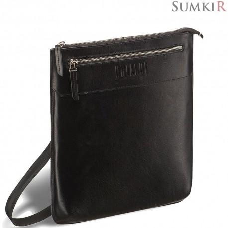 Brialdi Assisi (Ассизи) black Кожаная сумка через плечо