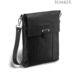 Brialdi Toronto (Торонто) black Кожаная сумка через плечо
