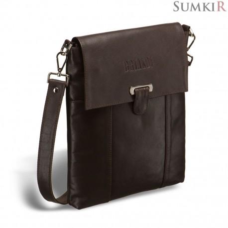 Brialdi Toronto (Торонто) brown Кожаная сумка через плечо