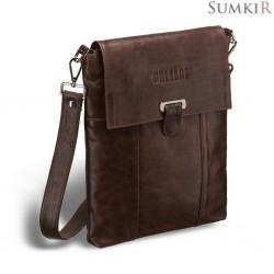 Brialdi Toronto (Торонто) antique brown Кожаная сумка через плечо