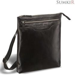 Brialdi Grado (Градо) black Кожаная сумка через плечо