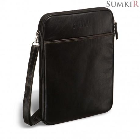 Brialdi Matelica (Мателика) black Кожаная сумка через плечо