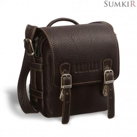 Brialdi Trieste (Триест) brown Кожаная сумка через плечо