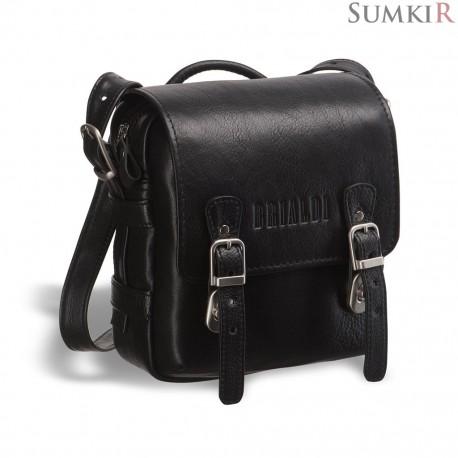Brialdi Trieste (Триест) black Кожаная сумка через плечо