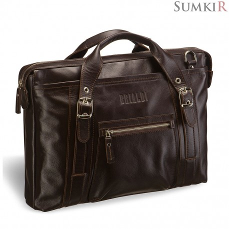 Brialdi Navara (Навара) brown деловая сумка