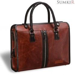 Briadli Carrara (Каррара) antique red Деловая сумка