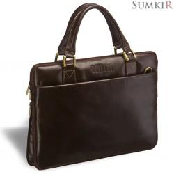 Brialdi Ostin (Остин) brown Деловая сумка SLIM-формата