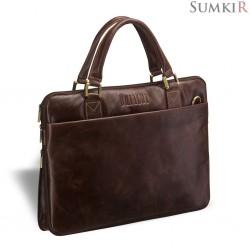 Brialdi Ostin (Остин) antique brown Деловая сумка SLIM-формата