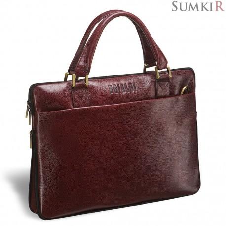 Brialdi Ostin (Остин) antique red Деловая сумка SLIM-формата