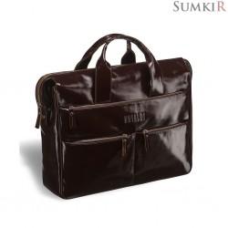 Brialdi Manchester (Манчестер) shiny brown Вместительная деловая сумка