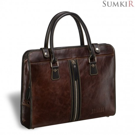 Brialdi Carrara (Каррара) antique brown Деловая сумка