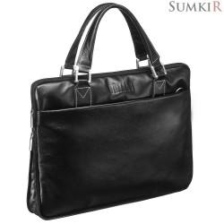 Brialdi Ostin (Остин) black Деловая сумка SLIM-формата