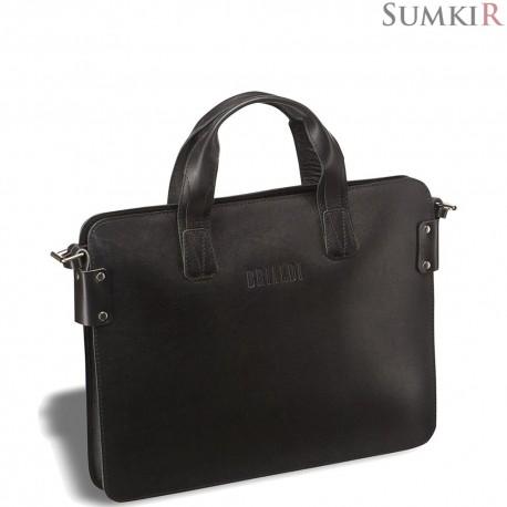 Brialdi Loano (Лоано) black Деловая сумка SLIM-формата