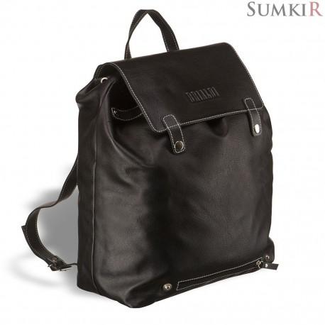Brialdi Laredo (Ларедо) black Кожаный рюкзак