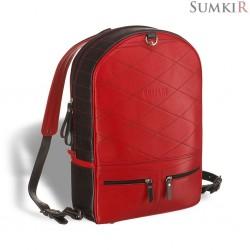 Brialdi Joker (Джокер) black and red Кожаный рюкзак-трансформер
