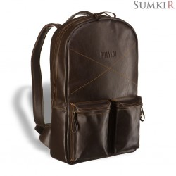 Brialdi Bismark (Бисмарк) brown Кожаный рюкзак