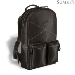 Brialdi Bismark (Бисмарк) black Кожаный рюкзак
