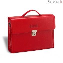 Brialdi Blanes (Бланес) croco relief red Женский деловой портфель