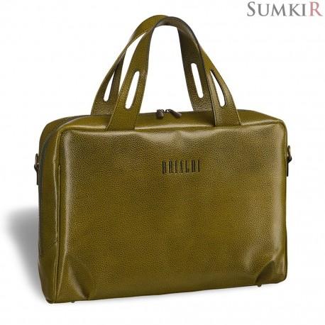 Brialdi Elche (Эльче) relief mustard Женская деловая сумка