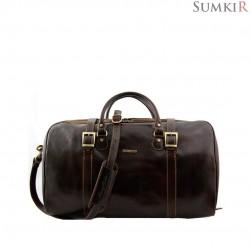 TL1013 Tuscany Berlin - Дорожная кожаная сумка c даффл пряжками большой размер