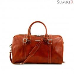 TL1014 Tuscany Berlin - Дорожная кожаная сумка c даффл пряжками маленький размер