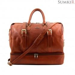 TL151104  Tuscany TL Travel  - Эксклюзивная дорожная кожаная сумка с двойным дном