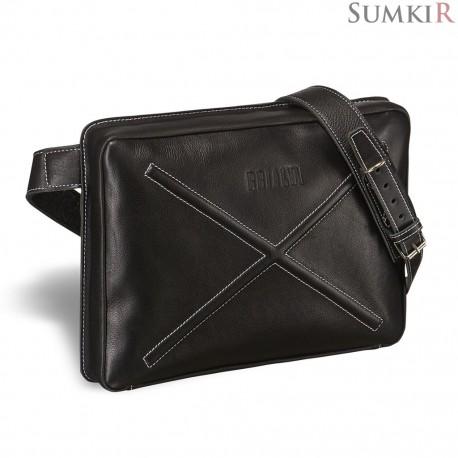 Brialdi Killeen (Киллин) black Кожаная сумка через плечо