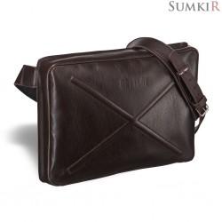 Brialdi Killeen (Киллин) brown Кожаная сумка через плечо