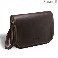Brialdi Cambridge (Кембридж) brown Кожаная сумка через плечо