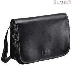 Brialdi Cambridge (Кембридж) black Кожаная сумка через плечо