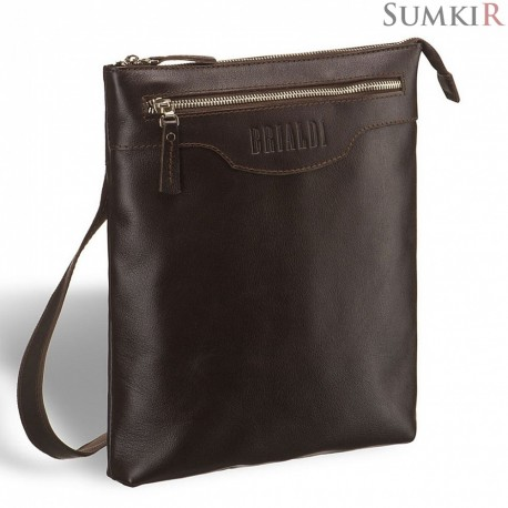 Brialdi Grado (Градо) brown Кожаная сумка через плечо