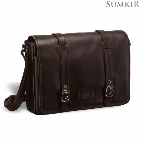 Brialdi Turin (Турин) brown Кожаная сумка через плечо