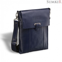 Brialdi Toronto (Торонто) shiny black Кожаная сумка через плечо