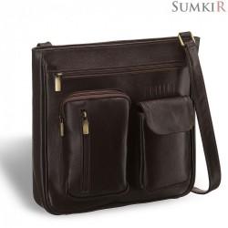 Brialdi Chester (Честер) brown Кожаная сумка через плечо
