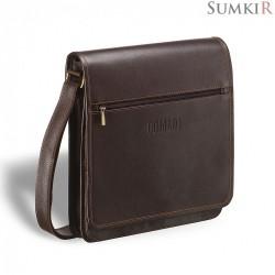 Brialdi Dallas (Даллас) brown Кожаная сумка через плечо