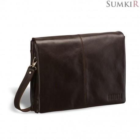 Brialdi Chelsea (Челси) brown Кожаная сумка через плечо