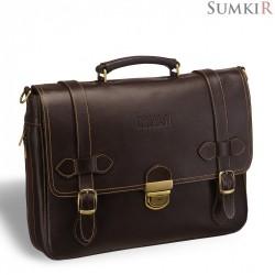 Brialdi Mendel (Мендель) brown Функциональный мужской портфель